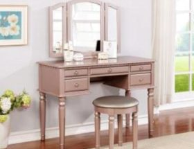 clean makeup vanity desk